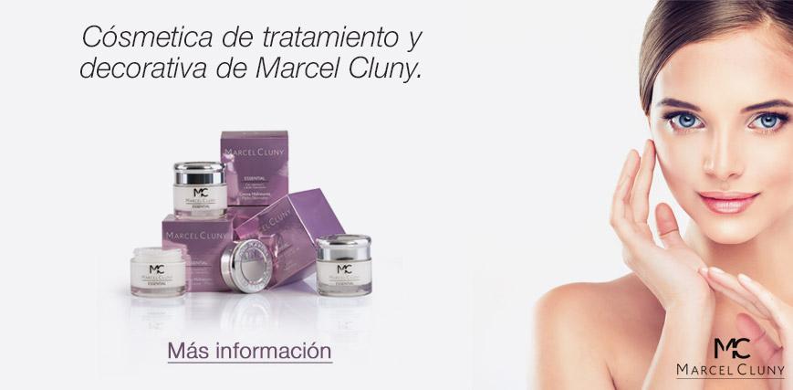Linea cosmética y dermocosmética Marcel Cluny